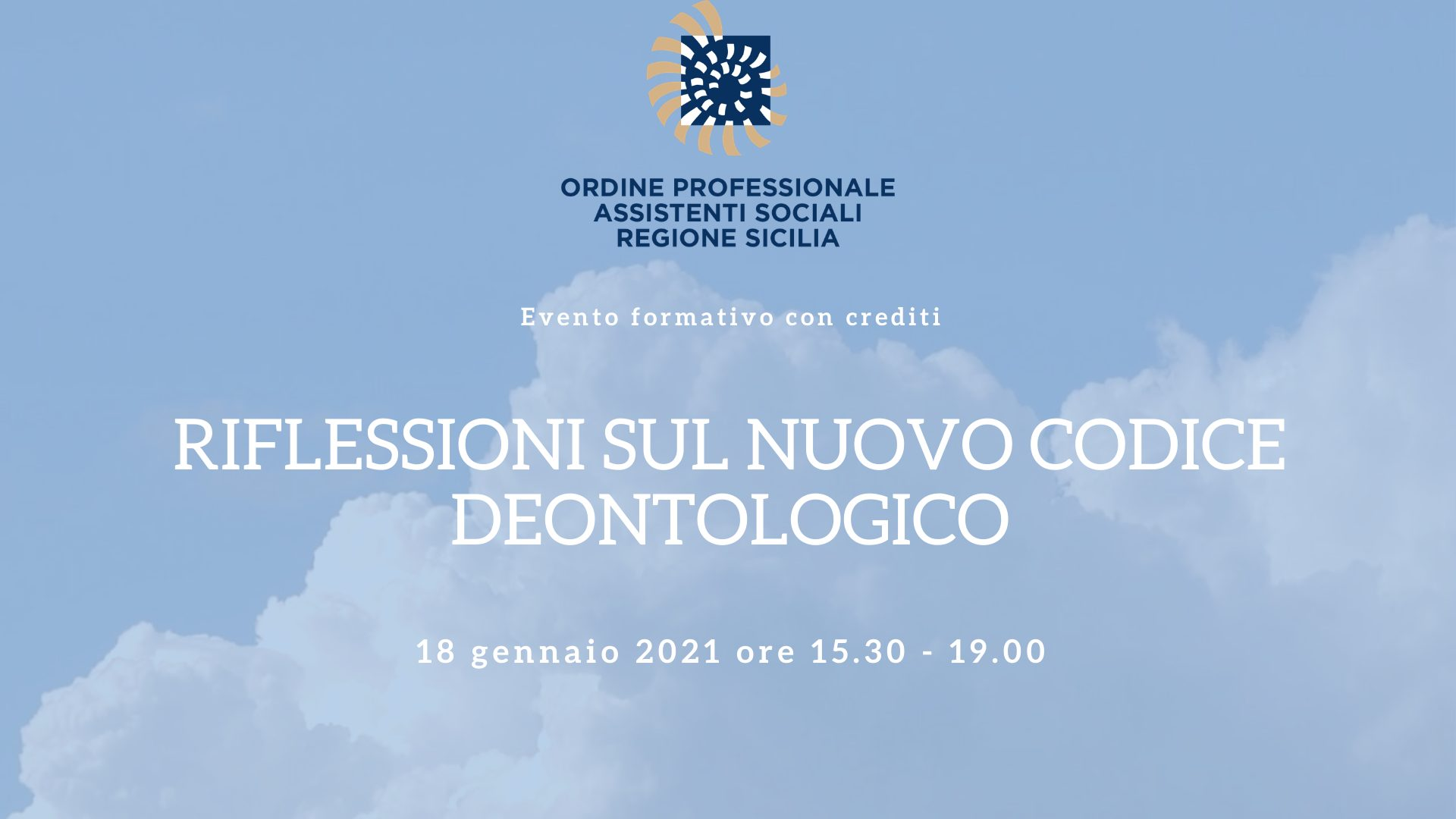 Distance training for the Professional Order of Social Workers of the Sicily Region